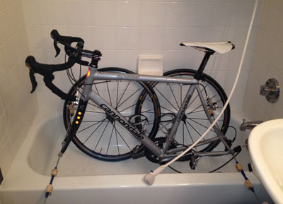 How to Clean your Bike in a NYC Apartment - StephenVenters.com